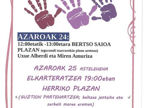 25 de noviembre: ¡no a la violencia contra las mujeres!