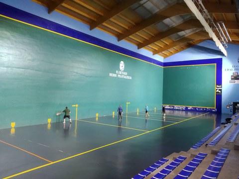 A partir de mañana se podrán utilizar el frontón y la cancha de squash