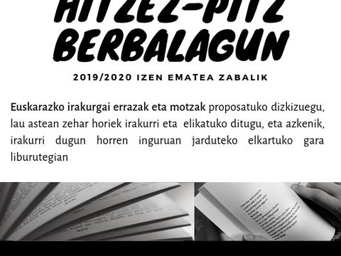 Abierto el plazo de inscripción en Hitzez pitz