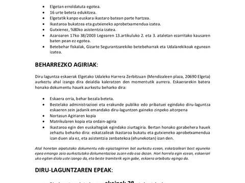 Abierto el plazo para pedir ayudas por cursos de euskara efectuados fuera de Elgeta