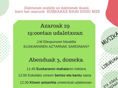 Actos del día del euskara