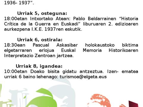 Actos por el 81 aniversario de la resistencia de Intxorta