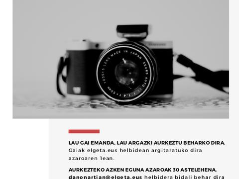 ¡Disponibles los temas del concurso fotográfico!