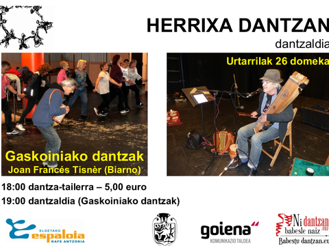 "Especial ""herrixa dantzan"" el domingo en el Espaloia"