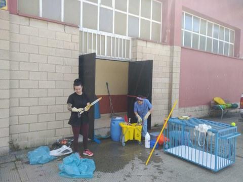 Estamos levando a cabo una limpieza especial de los edificios municipales