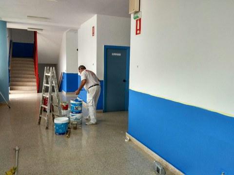 Han comenzado a pintar la Herri Eskola