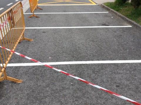 Hemos pintado los aparcamientos de Bolatoki y Artekale