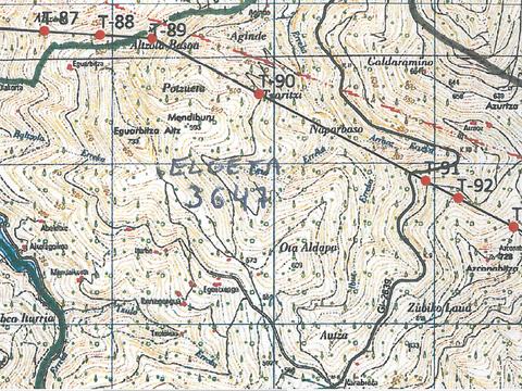 Información sobre el proyecto de la línea de alta tensión Güeñes-Itsaso