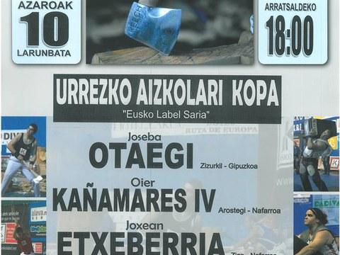 Urrezko aizkora y harri-jasotze txapelketa en el frontón de Elgeta