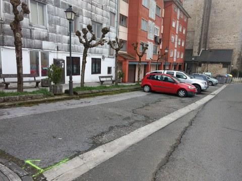 Mañana se efectuarán los trabajos de asfaltado del parking de Artekale y un bache de Domingo Iturbe