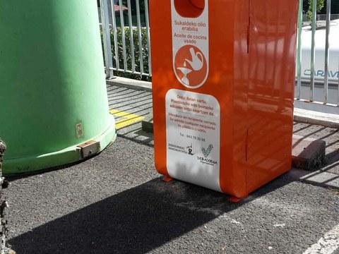 Nuevos contenedores para la recogida de aceite usado