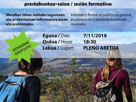 """Sesión formativa """"Prevención y primeros auxilios en la montaña"""""""