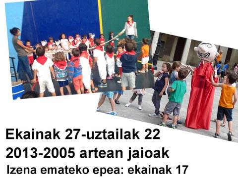 2016 udalekuetan izena emateko epea zabalik