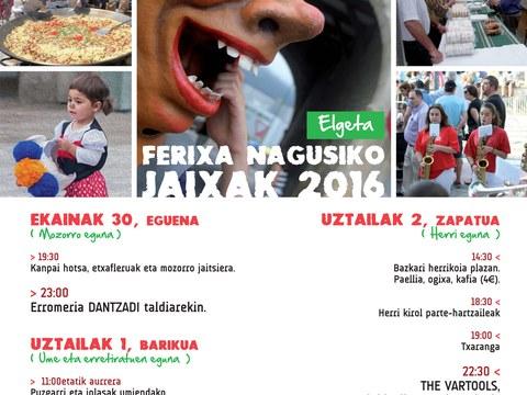 2017ko Ferixa Nagusiko Jaixetarako kartel lehiaketa antolatu du Udalak
