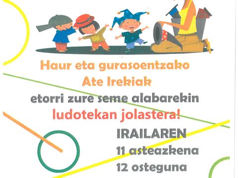 Eguaztenean emango dio hasiera kurtsoari Elgetako ludotekak