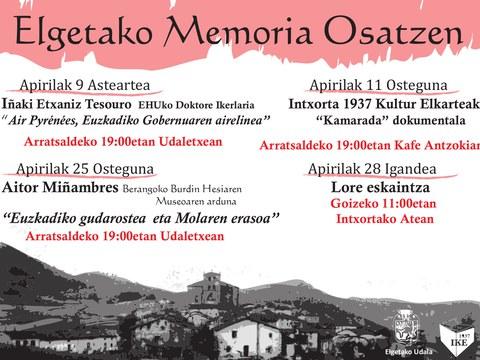 Jardunaldi memorialistak egia osatzen jarraitzeko