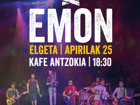 Kontzertua emango du Emon taldeak Espaloian apirilaren 25ean